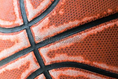 closeup old basketball basket ball for