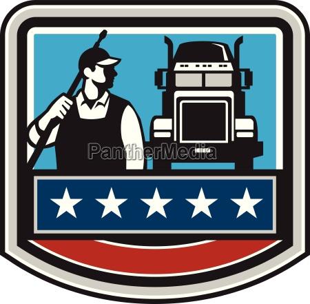 druck washer worker truck crest usa