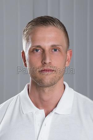 young man wearing t shirt