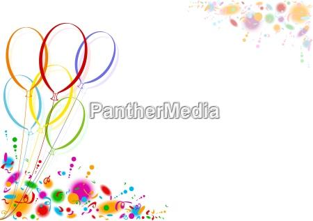 farbige luftballons party