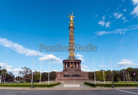 monumento estatua berlin columna triunfal signo