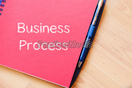 business process write on notebook