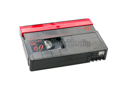 minidv, videokassette, auf, weißem, hintergrund - 17732334
