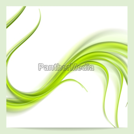 abstract elegant green wavy pattern background