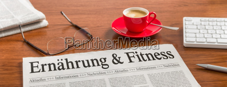 newspaper on desk nutrition and