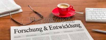 newspaper desk research and entwicklungl