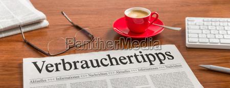 newspaper desk consumer tips
