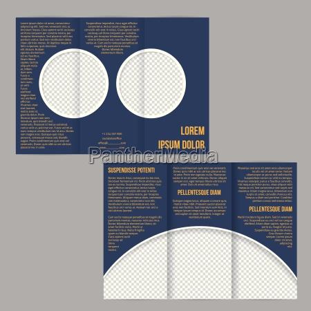 tri fach flyer broschuere mit foto