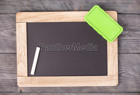 blackboard green sponge and white chalk