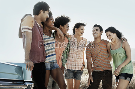 a group of friends men and