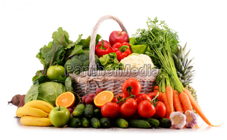 assorted raw organic vegetables isolated on