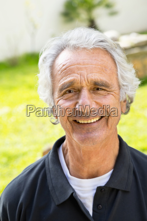portrait of senior man outoors spain