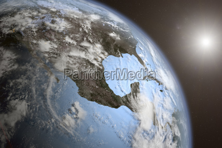 illustration of planet earth from space