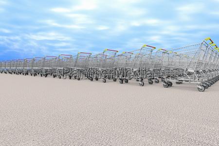 digital illustration of shopping carts