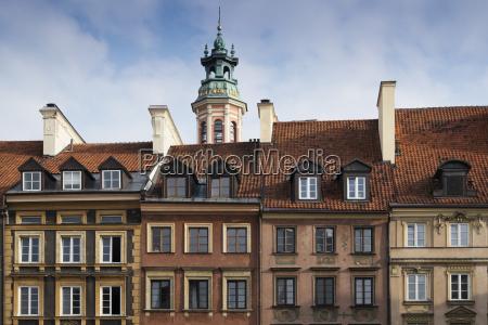 tower over buildings stare miasto warsaw