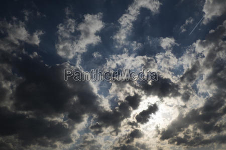 sun and clouds in sky poland