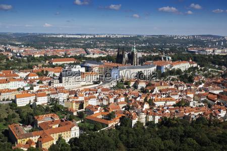 scenic overview of mala strana city