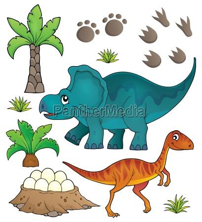 dinosaurier themenset 6