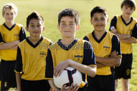 a group of boys in team