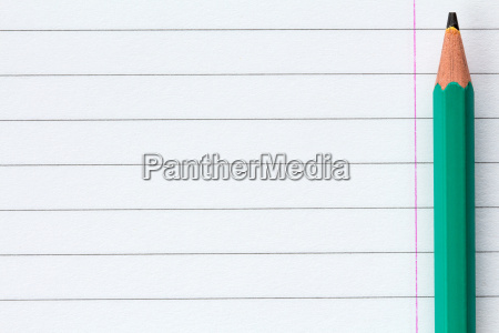 pencil andl lined paper for school