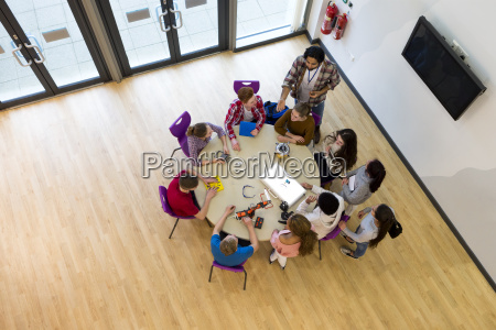 ariel view of technology lesson
