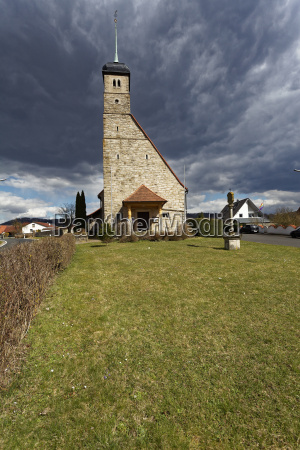 kirche in hundelhausen steigerwald landkreis schweinfurt