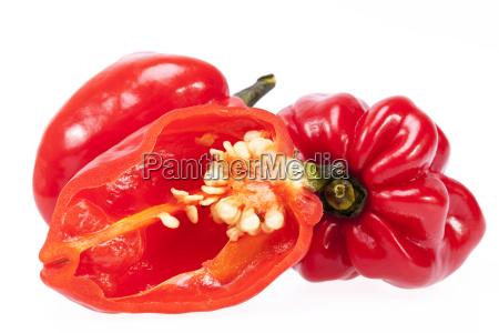 einige gemuese von rotem chili pepper
