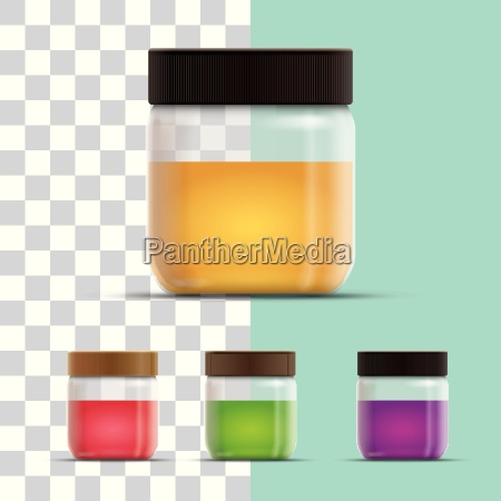 vector realistic illustration of honey or