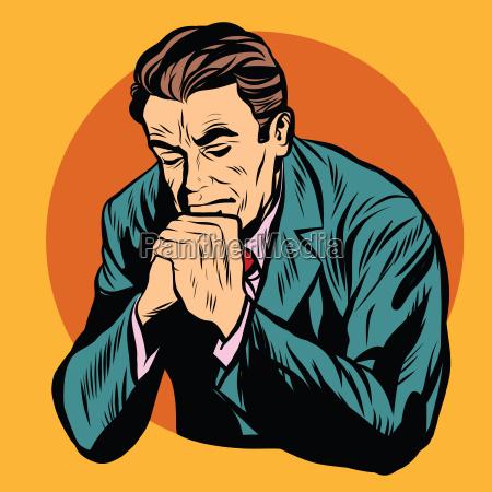 man praying religion faith