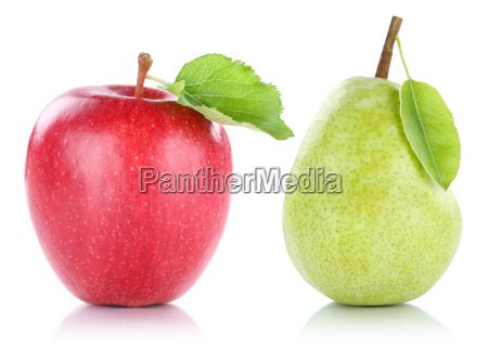 isolated apple and pear fruit fruit