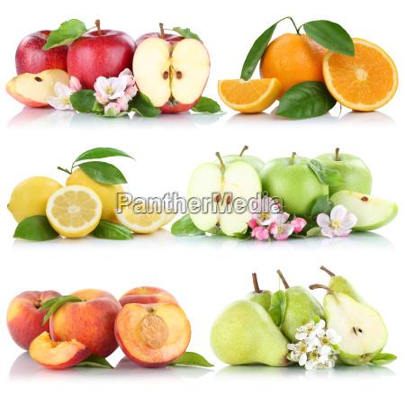 fruit apple orange lemon peach apples