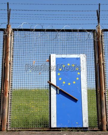 symbolische grenze zu europa