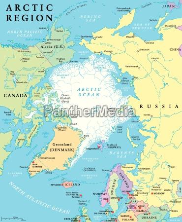 arktis politische karte