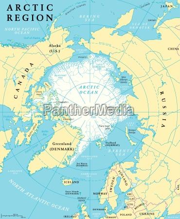 arctic region karte