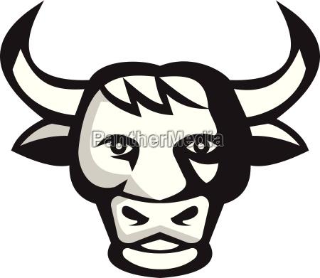 bull cow head retro
