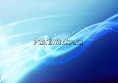 wellen schwingungen blau