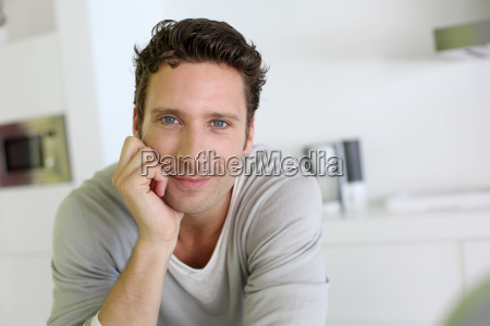 portrait of handsome man looking at
