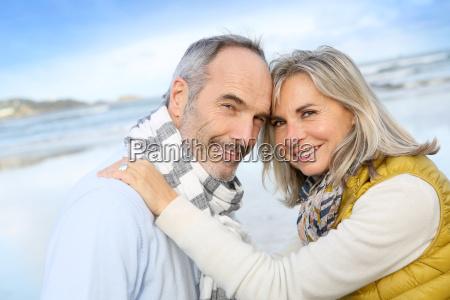 portrait of loving senior couple at