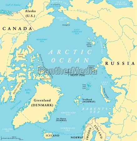 nordpolarmeer karte