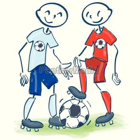 strichmaennchen als fussballfreunde