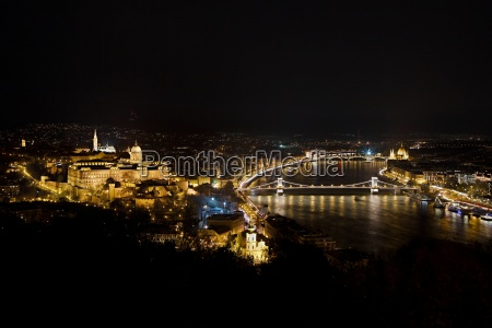 night view in buadapest