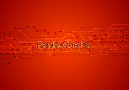 red bright technical background