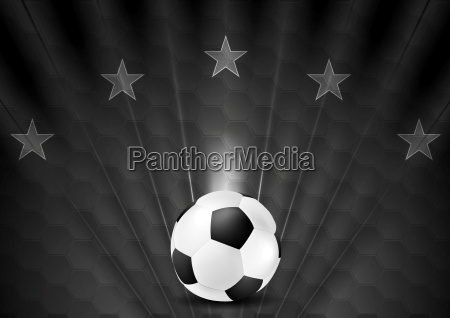black abstract soccer football background with