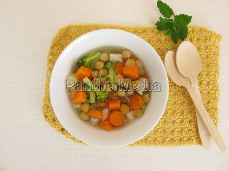 stew with vegetables and chickpeas