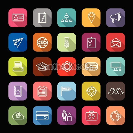 created icons on colorful button with