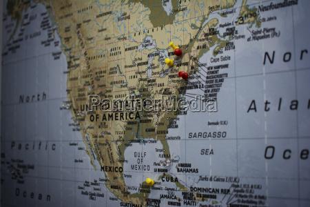 landkarte von usa