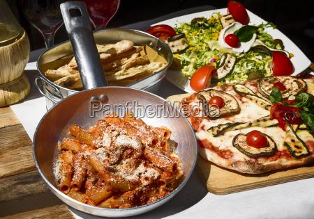 geschmack und beruehmtes italienisches essen