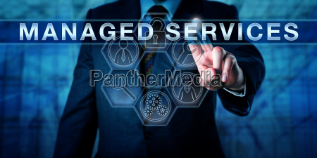 business consultant touching managed services