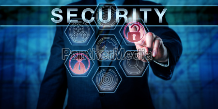 corporate administrator touching security