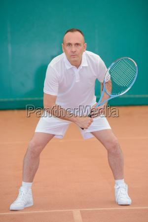 prepared tennis player